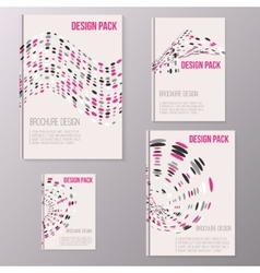 Set of brochure cover design templates with vector image