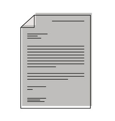 Sheet document in watercolor silhouette vector