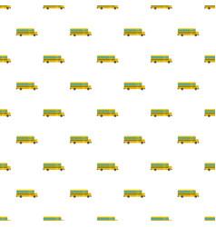 Side of school bus pattern seamless vector