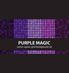 Square pattern set purple magic seamless tile vector