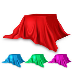 stage red silk set fabric cloth waving vector image