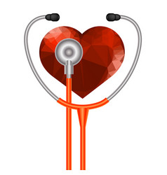 Stethoscope heart symbol vector