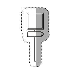 Sticker silhouette metallic square shape traffic vector