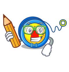 Student yoyo character cartoon style vector