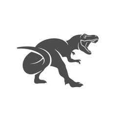 t rex logo design template vector image