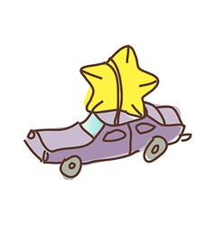 The car with star vector image