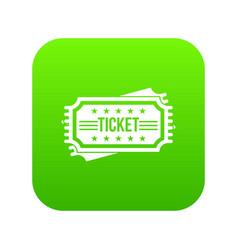 ticket icon digital green vector image