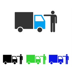 Truck customer flat icon vector