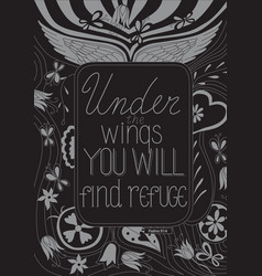 under wings you will find refuge vector image