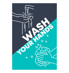Wash your hands vector