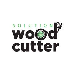 wood cutter logo designs simple modern vector image
