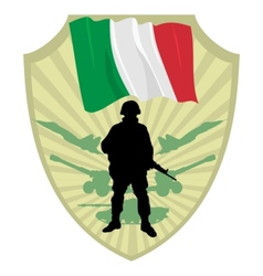 Army of Italy vector image vector image