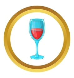Glass of red wine icon vector image
