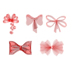 set of red ribbons vector image vector image