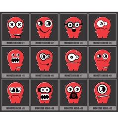 Set of twelve monsters vector