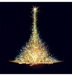 Christmas stars tree vector image vector image