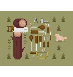 Concept woodcarving vector image