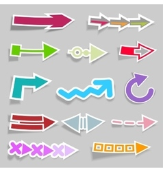 Flat Arrow Stickers Collection vector image vector image