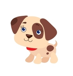 Of Cute Puppy vector image vector image