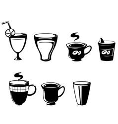 set drink vector image