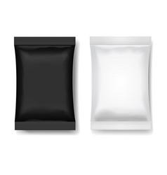 snack package black white blank food packaging vector image vector image