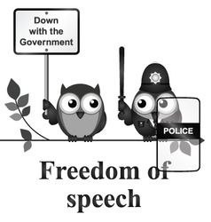 Freedom of Speech vector image vector image