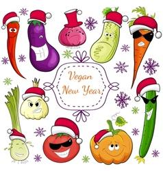 go vegan card design vector image vector image