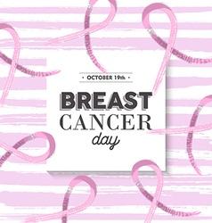 Pink breast cancer awareness design vector image