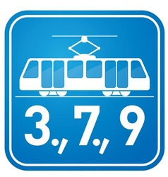 Tram sign vector image vector image
