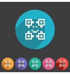 Qr code icon flat web sign symbol logo label vector image