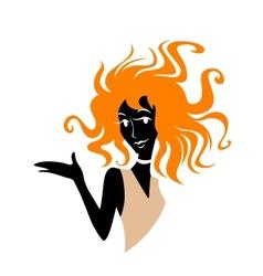 Redhead girl vector image vector image