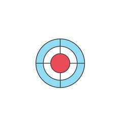 Seo target bullseye symbol successful business vector