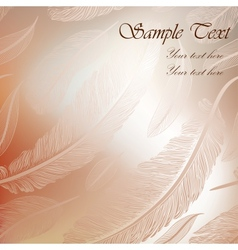 Abstract background with calligraphic feathers vector