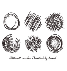 Abstract circles Painted by hand vector image