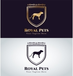 Abstract pet dog logo concept vector image