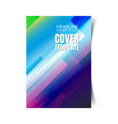 abstract report cover 4 vector image