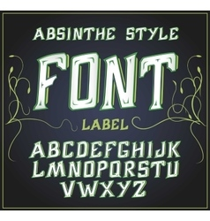 Acid font Good for use to decoration vector