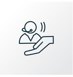 assistance icon line symbol premium quality vector image
