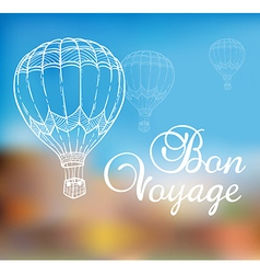 Background with air balloon vector image