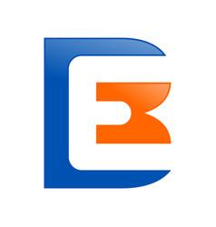 be initials lettermark symbol logo design vector image