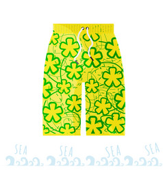 beach bright men shorts in the style of the miami vector image