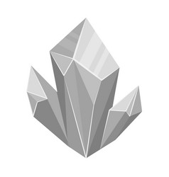 blue natural mineral icon in monochrome style vector image