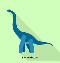 Brakiosauri icon flat style vector