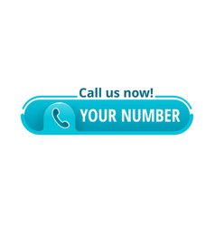 Call us now creative button template vector