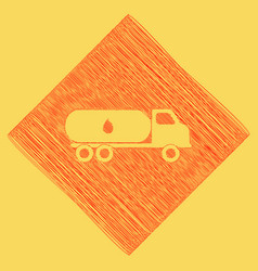 Car transports oil sign red scribble icon vector