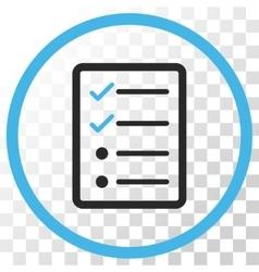 Checklist Page Icon vector image