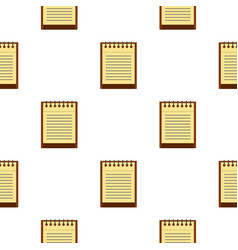 clean lined sheet of notepad pattern seamless vector image