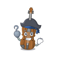 Cool and funny violin cartoon style wearing hat vector