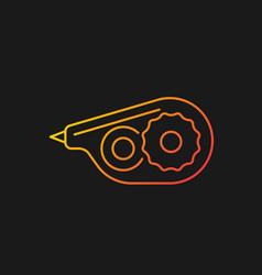 Correction tape gradient icon for dark theme vector