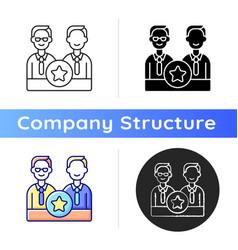 directorate icon vector image